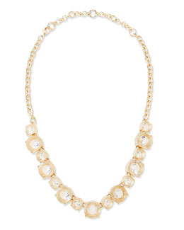 Lee Angel Clear Crystal Collar Necklace