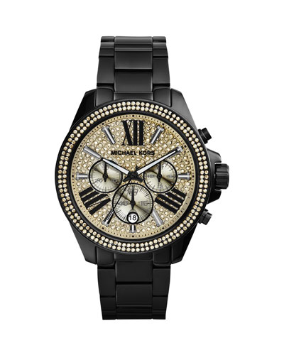 Michael Kors  Mid-Size Two-Tone Stainless Steel Wren Chronograph Watch