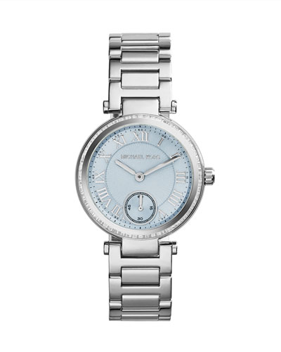 Michael Kors  Mini Silver Color Stainless Steel Skylar Three-Hand Glitz Watch