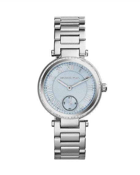 Mini Silver Color Stainless Steel Skylar Three-Hand Glitz Watch