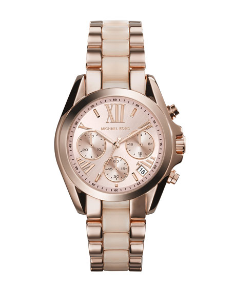 Michael Kors Mini Rose Golden/Blush Stainless Steel Bradshaw