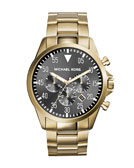 Michael Kors  Oversize Golden Stainless Steel Gage Chronograph Watch