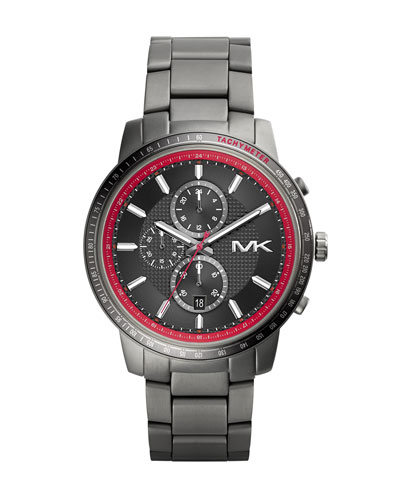 Michael Kors  Oversize Gunmetal Stainless Steel Granger Chronograph Watch