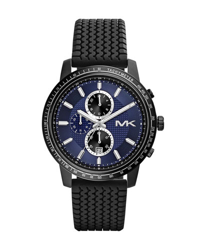 Michael Kors  Oversize Black Silicone Granger Chronograph Watch