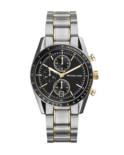 Michael Kors  Mid-Size Silver Color Stainless Steel Accelerator Chronograph Watch