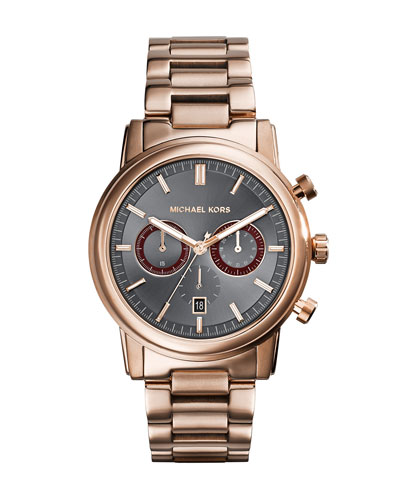 Mid-Size Rose Golden Stainless Steel Pennant Chronograph Watch