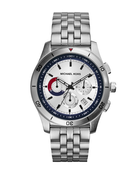 Mid-Size Silver Color Stainless Steel Outrigger Chronograph Watch