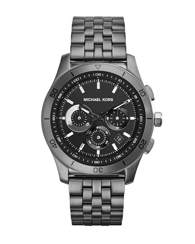 Michael Kors  Mid-Size Gunmetal Stainless Steel Outrigger Chronograph Watch