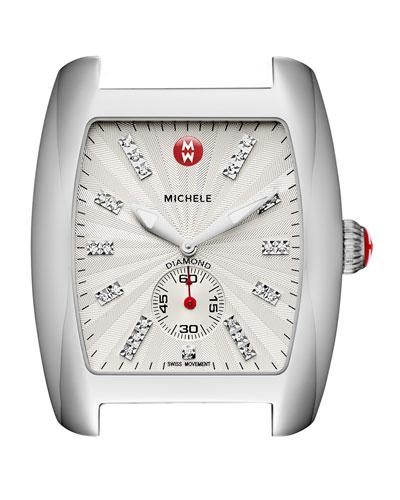 Urban Stainless Diamond-Dial Watch Head, White