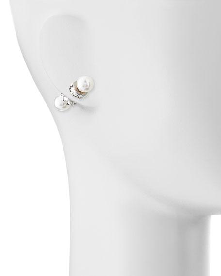 Magnetic Faux Pearl & Crystal Earrings