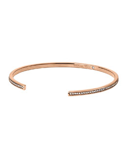 Michael Kors  Pave Open Cuff, Rose Golden