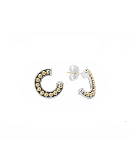Lagos Sterling Silver & 18k Enso Half-Circle Stud Earrings