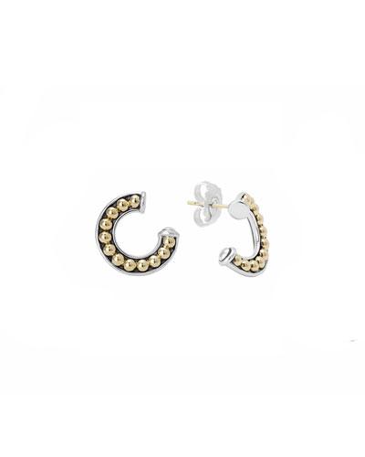 Lagos Sterling Silver & 18k Enso Half-Circle Stud Earrings
