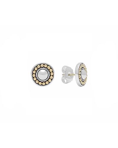Lagos 12mm Sterling Silver & 18k Enso Stud Earrings