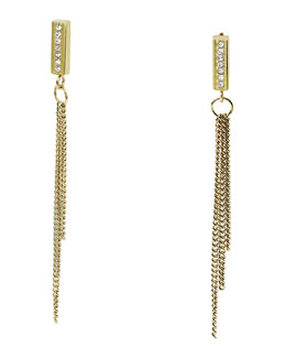Michael Kors  Curb Chain Drop Earrings, Golden