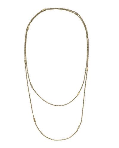 Michael Kors  Pave Bar Station Necklace, Golden