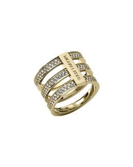 Michael Kors  Triple-Stack Pave Ring, Golden