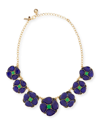 kate spade new york izu petals graduated necklace, blue