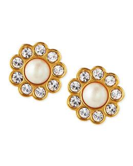 kate spade new york faux pearl flower stud earrings