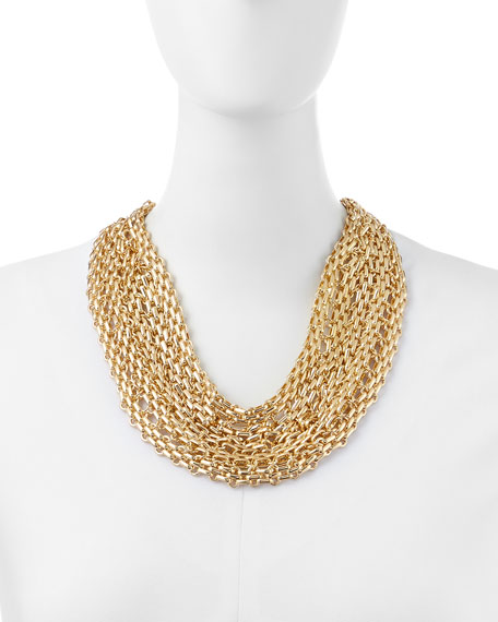 Golden Mesh Chain Necklace