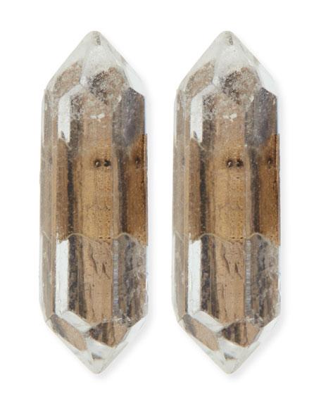 Golden Stalagmite Stud Earrings