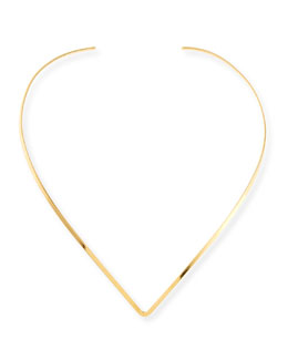 Jennifer Zeuner Tilda Gold Vermeil Collar Necklace