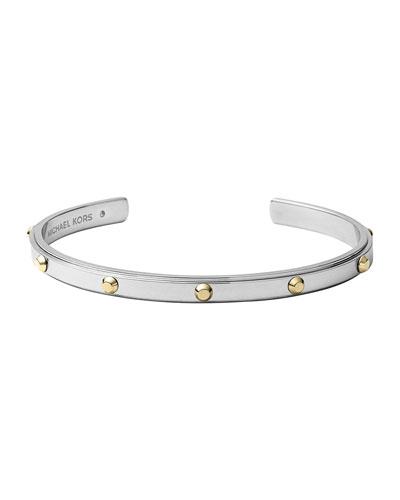 Michael Kors  Astor Open Cuff, Silver Color