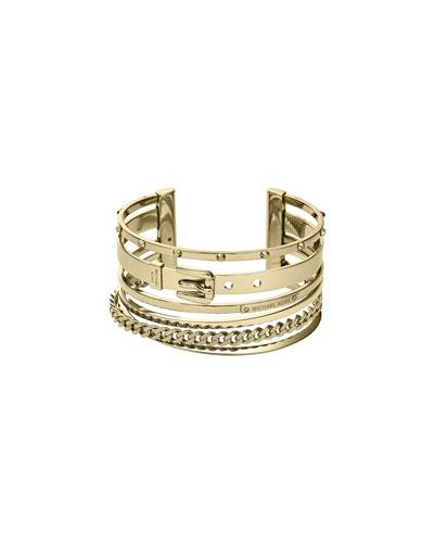 Michael Kors  Mixed-Shape Cuff, Golden