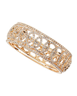 Chamak by Priya Kakkar Golden Crystal Eye Bangle