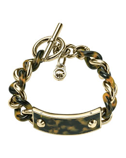 Michael Kors  Twisted Plaque Bracelet, Golden