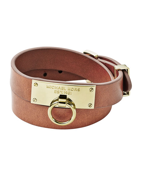 Leather Wrap Bracelet, Tan