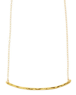 Gorjana Taner Hammered Golden Bar Necklace