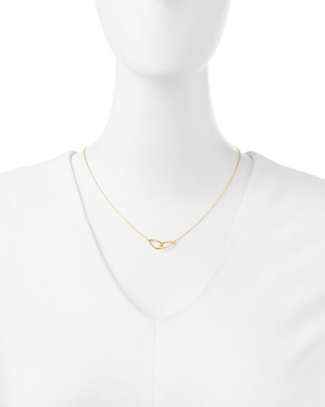 18K Gold Plated Conwell Charm Necklace