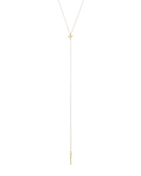 Crossover Lariat Necklace