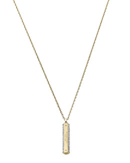 Michael Kors  Pave Logo-Plaque Necklace, Golden
