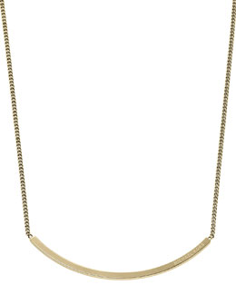 Michael Kors  Logo-Plaque Choker Necklace, Golden