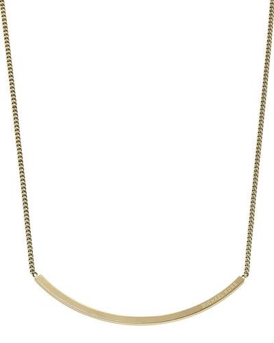 Michael Kors  Logo-Plaque Choker Necklace, Golden