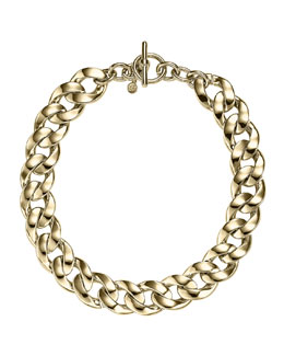 Michael Kors  Curb-Chain Toggle Necklace, Golden