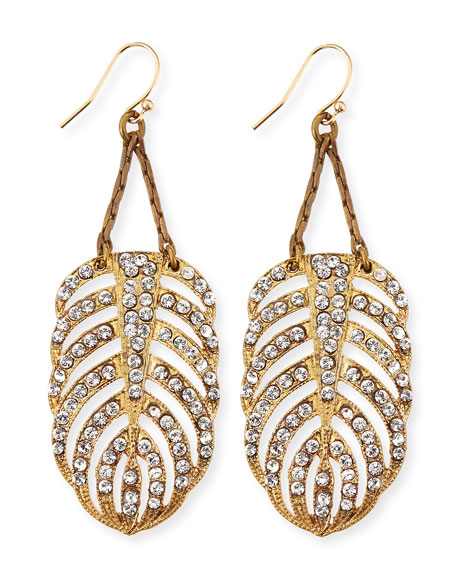 Lulu Frost Drift Crystal Feather Earrings
