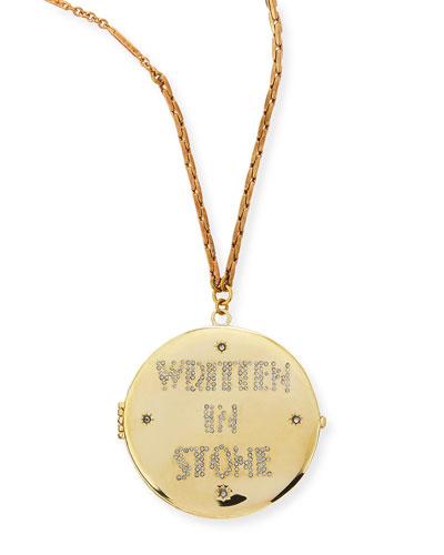 Written in Stone Golden Locket Necklace