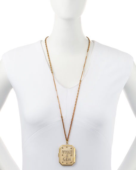What a Gem Golden Locket Necklace