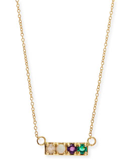 Lulu Frost Gold LOVE Code Word Necklace
