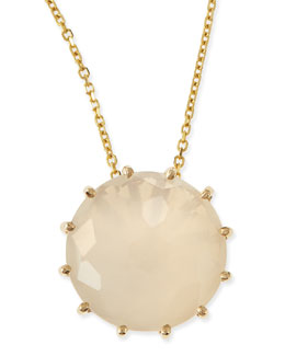 KALAN by Suzanne Kalan 12mm Round Moonstone Pendant Necklace