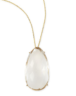 KALAN by Suzanne Kalan Pear White Quartz Pendant Necklace