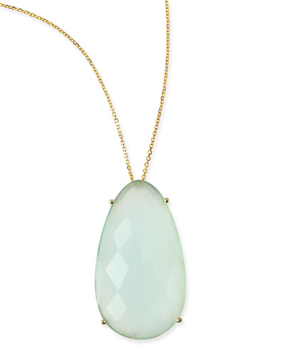 Pear Chalcedony Pendant Necklace