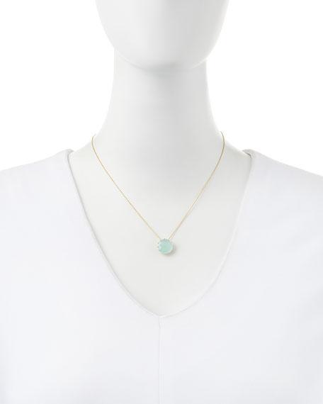 12mm Round Chalcedony Pendant Necklace