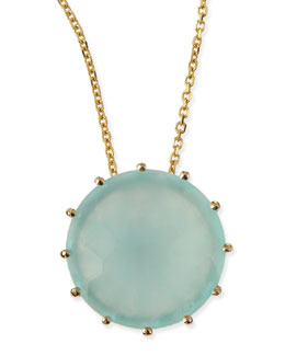 KALAN by Suzanne Kalan 12mm Round Chalcedony Pendant Necklace