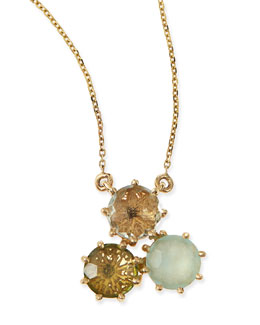 KALAN by Suzanne Kalan Multi-Stone Green Cluster Pendant Necklace