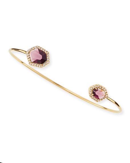 Pinch Bracelet, Amethyst
