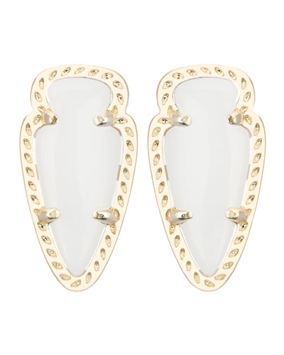 Kendra Scott Skylette  Pearlescent Stud Earrings
